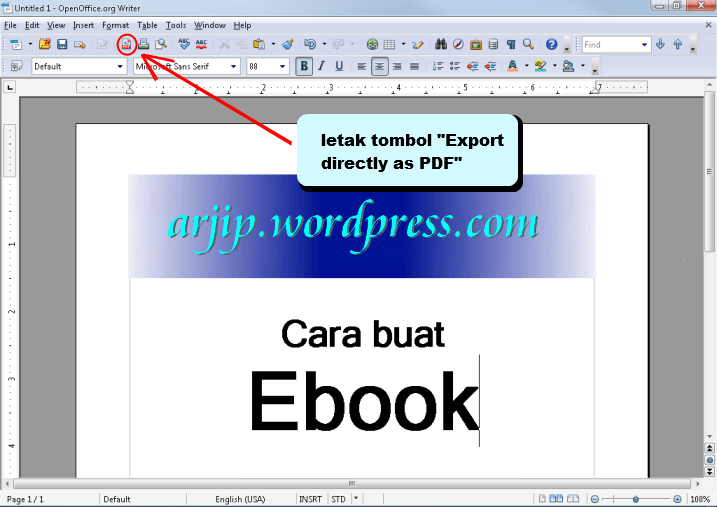 how to make an ebook on word